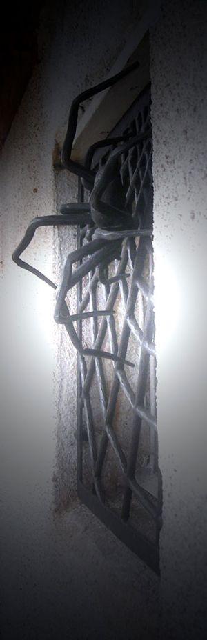 kovaná mříž Pavouk